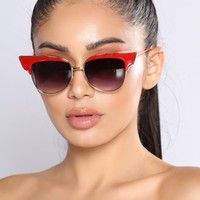 In Over Your Head Sunglasses - Red