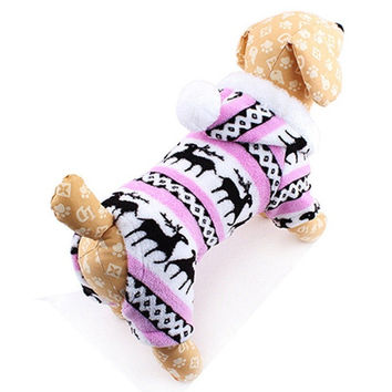 New Fashion Small Pet Dog Clothes For Dog Coat Jacket Snowflake Deer Puppy Products For Animals Clothing For Dogs lml-05-058Q = 1930316740