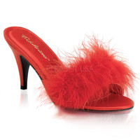 Pleaser Pink Label Red Amour Slippers