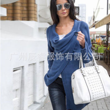 2016 Trending Fashion Women Cardigan Knit Stars Outerwear Jacket _ 10624