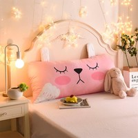 Cartoon Children's Big Pillow Living Room Bedroom Large Cushions Home Bedside Decor Back Pillows 50x110cm 20x44in