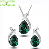 Jewelry Sets Water Tear pendant lace earrings