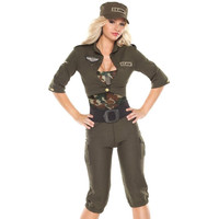 Coquette Womens Army Girl Halloween Party Military Costume