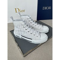 DIOR   Trending Women's Black Leather Side Zip Lace-up Ankle Boots Shoes High Boots