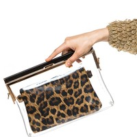 Animal Print Clear Clutch