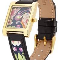 Women's Flowers of Liberty Floral Print Leather Watch