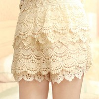 Sweet Lace Cake Mini Skirts