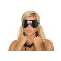 Elegant Moments Leather Blindfold W/ 'D' Ring