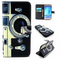 Camera Print Leather Case Cover for iPhone & Samsung Galaxy