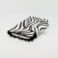 Eagle Cell Leather Pouch for Samsung Galaxy S3 - Retail Packaging - Black and White Zebra