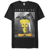Tops Summer Cool Funny T-shirt Looney Tunes Tweety Bird Sweet Life Mens Graphic T Shirt