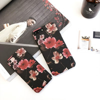 Retro Floral Case for iPhone 7 7Plus & iPhone se 5s 6 6 Plus Best Protection Cover +Gift Box