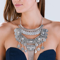Freshly Minted Coin Bib Necklace Set