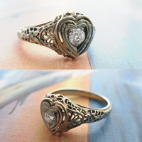 Erica Weiner Jewelry - 1940s Sweetheart Engagement Ring