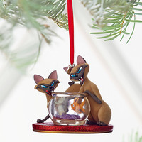 Disney Store Lady the Tramp Si & Am 2016 Sketchbook Christmas Ornament New Tags