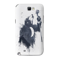 Wolf Song 3 Full Wrap High Quality 3D Printed Case for Samsung Galaxy Note 2 by Balazs Solti