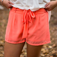 Vineyard Summer Shorts - Coral