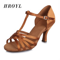 New arrival Women Latin exquisite Satin Ladies Latin Dancing Shoes High heel soft sole Ballroom Dance Shoes