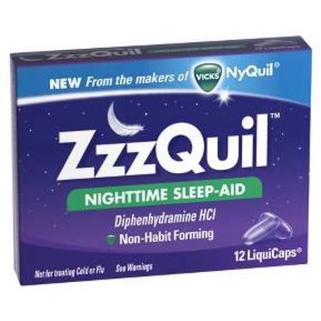 ZzzQuil Nighttime Sleep-Aid LiquiCaps - 12 Count