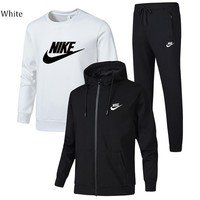 NIKE winter sports and leisure trend men's three-piece suit White