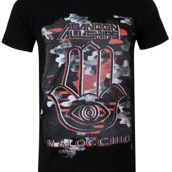 Abandon All Ships Camo Logo Men's Black T-Shirt