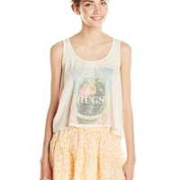 Eyeshadow Junior's Cactus Print Swing Tank Top