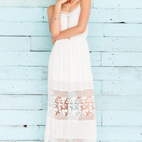 Sabine Crochet Maxi Dress