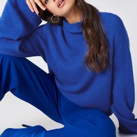 Bell Sleeve High Neck Knitted Sweater