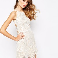 For Love and Lemons Guava Mini Dress in Lace