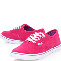 Vans Red Suede Authentic Lo Pro Trainers | Women's Shoes by Vans | Liberty.co.uk