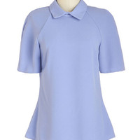 Closet Vintage Inspired Mid-length Short Sleeves Soft-Wear Professional Top