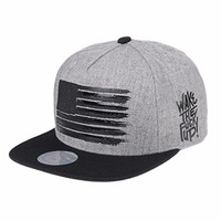 WITHMOONS Snapback Star and Stripes Flag Hat KR2305 (Grey)