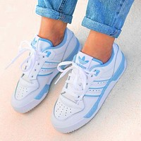 Onewel ADIDAS RIVALRY Clover Trending Flat Shoes Classic Sneakers White-blue line