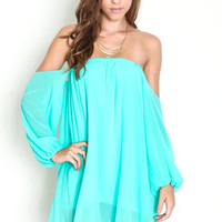 Off Shoulder Chiffon Dress - LoveCulture