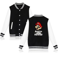 Trendy Hot Sale Game Super Mario Jacket Funny Baseball Coats mario pattern clothes hip hop Streetwear clothing for Winter AT_94_13