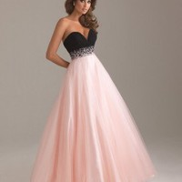 [NZD196.00] Chiffon and Tulle Sweetheart Neckline with Ball Gown Prom Dress NM63
