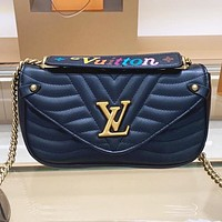 LV Louis vuitton Fashion New Leather Shopping Leisure Shoulder Bag Crossbody Bag Handbag Black