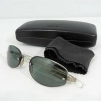 Prada Sunglasses SPR 52A 2AC-5C1 Green Lenses Plastic Frames with Box Dust Cloth