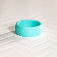 Silicone Wedding Band - Teal Mens Silicone Wedding Band Ring Ring Gift for Men Gift For Him Gift For Husband Gift