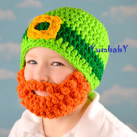 Small Adult - Leprechaun Beard hat for Saint Patricks Day - Ready to Ship