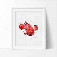 Nemo Watercolor Art Print