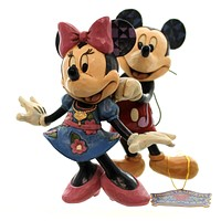 Jim Shore FOR MY SWEETHEART Polyresin Disney Mickey Minnie Mouse Love 4046042