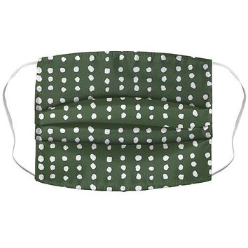 Polka Dot Chive Minimalist Boho Pattern Face Mask Cover