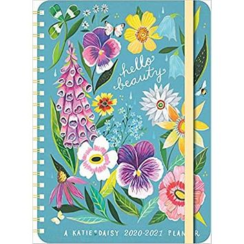 """Katie Daisy 2020 - 2021 On-the-Go Weekly Planner: 17-Month Calendar with Pocket (Aug 2020 - Dec 2021, 5"""" x 7"""" closed): Hello Beauty"""