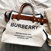 BURBERRY High Quality Women Shopping Bag Canvas Handbag Tote Shoulder Bag Crossbody Satchel