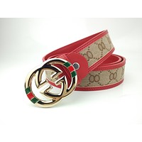 GUCCI Stylish high-end joker belt with smooth buckle belt