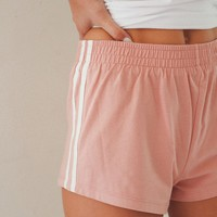 Dusty Rose Side Stripe Shorts