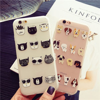 Lovely small cat and small dog mobile phone case for iPhone 6 6s 6plus 6s plus + Nice gift box!