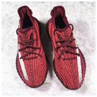 adidas yeezy boost 350 v2 trending running sports shoes sneakers wine red
