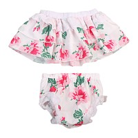 2PCS born Baby Girls Clothing Set Baby Girls Floral Sleeveless Strapless Top+Pants Sun-suit Outfits Clothes Set